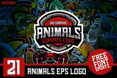 21 Set Animals Logo esports Gaming Include Free Font Product Image 1
