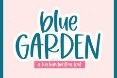 Web Font Blue Garden - A Fun Handwritten Font Product Image 1