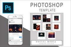 Halloween Instagram Photoshop Template Post Product Image 1