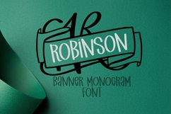 Monogram Banner Font - Banner Letters For Names Product Image 1