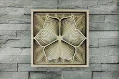 Layered Mandala SVG, Laser cut file Mandala, 3D Flower Product Image 1