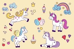 Unicorns vector set and alphabet bonus Product Image 6