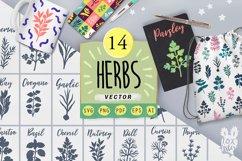 Farm fresh Herbs svg bundle, Svg Png Pdf Eps Ai Product Image 1