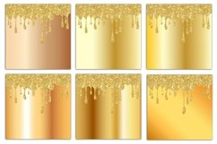 Gold Drips Digital Paper Product Image 3