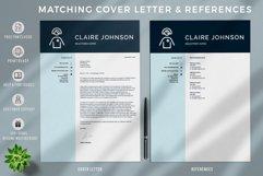 RN Nurse Resume template. Modern Resume format for Nurses Product Image 3
