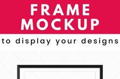 Black Frame Mockup, Poster Mockup for Wall Art Digital Frame Product Image 2
