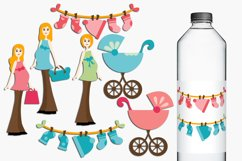 Blonde Mom to be, Pregnant Woman Illustrations Product Image 1