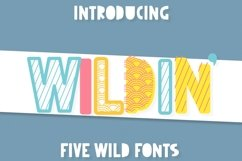 Wildin' - A 5 pack of layer-friendly fonts! Product Image 1