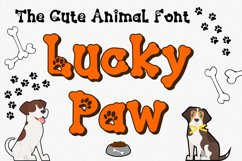 Lucky Paw Font | Pet Paw Font | bones and paw Letters Product Image 1