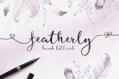 Featherly hand lettered Product Image 1