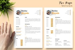 Modern Resume CV Template for Word & Pages Paisley Edwards Product Image 3