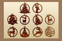 10 Leather Christmas earrings svg bundle Necklace svg Product Image 2