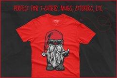 Gnome SVG, Cool Biker Gnome, Devil's Horn Rock On Hand Sign Product Image 4