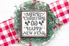 Christmas SVG - Merry Christmas and Happy New Year Product Image 1