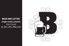 Beer, monogram letter B Product Image 1