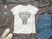 Ethnic Indian Elephant T-shirt Illustration SVG File Product Image 2