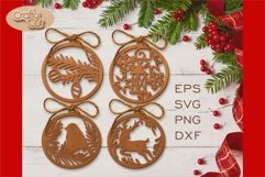 Christmas Tree Decorations. Christmas Bauble. Laser cut SVG Product Image 3