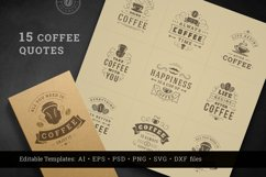 Coffee Quotes and Phrases set Product Image 1