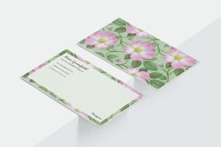 Pink Wild Rose PSD Business Card Template Product Image 5