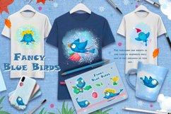 Fancy Blue Birds. Big set. Characters. Product Image 5