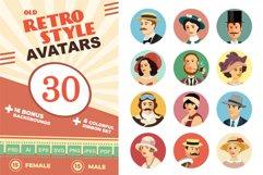 Avatars Retro people vector cartoon Product Image 1