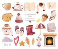 Autumn Vibes Watercolor Collection Clipart Product Image 2