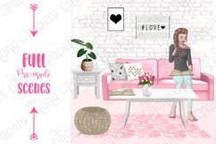 STAY HOME CLIPART - Fashion Girl Planner Graphics Product Image 10