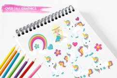Baby Unicorn graphics and illustrations Product Image 3