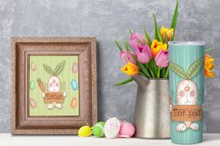 Happy Easter Png. Easter sublimation design. Skinny tumbler Product Image 6