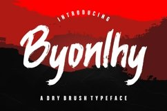 Byonlhy Dry Brush Typeface Product Image 1
