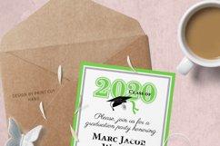 Invitation Template editable text - GREEN - Graduation 2021 Product Image 5