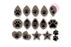 Paw Print Earring Template |60 Templates Earring svg Product Image 4