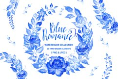 Blue Romance. Watercolor collection. Product Image 1