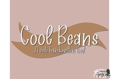 CoolBeans - a fun handwritten font Product Image 1