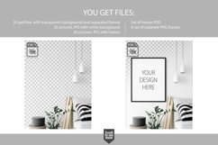 Scandinavian Interior Frames & Walls Mockup Bundle - 2 Product Image 3