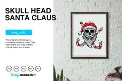 Skull Head Santa Claus Vector Illustration Product Image 2