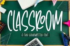 Web Font Classroom - Fun Handwritten Font Product Image 1