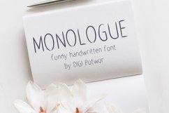 Monologue font Product Image 1
