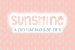 Sunshine   Bold Quirky Hand Written Font Product Image 1