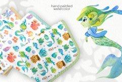 Watercolor Cute Mermaids. Seamless Patterns Product Image 3