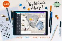 The Whole Shop - Lock & Page T-Shirt Mockup Bundle - On SALE Product Image 1