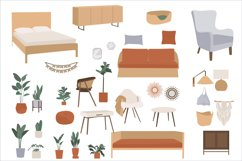 Bohemian Decor Illustrations, interior design, furniture cli Product Image 5