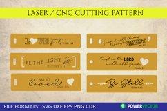 Bible Verse Bookmark Laser Cutting Engraving Pattern Bundle Product Image 2
