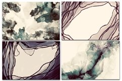 12 Dark Alcohol Ink Backgrounds. Product Image 3