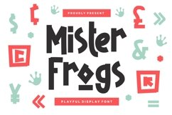 Mister Frogs - Display Font Product Image 1
