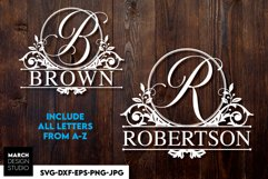 Split Monogram SVG, Monogram Font SVG, Monogram Fonts SVG Product Image 1