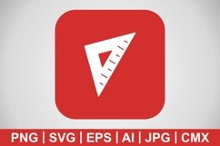 Vector Set Square Icon Product Image 1