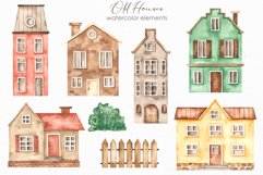 Old houses watercolor clipart Product Image 3