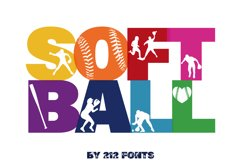 212 Softball Caps Display Font Softball Player Alphabet OTF Product Image 2