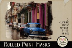 Clipping Masks - Rolled Paint Photoshop Masks & Tutorial Product Image 3